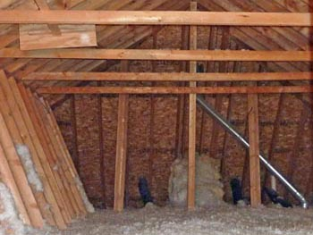 attic without insultation or attic cooling fan